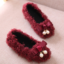 2017 Autumn Floss Toddlers Girls Shoes Slip on Bow Tie Baby Girls Shoes Infant First Walkers(China (Mainland))