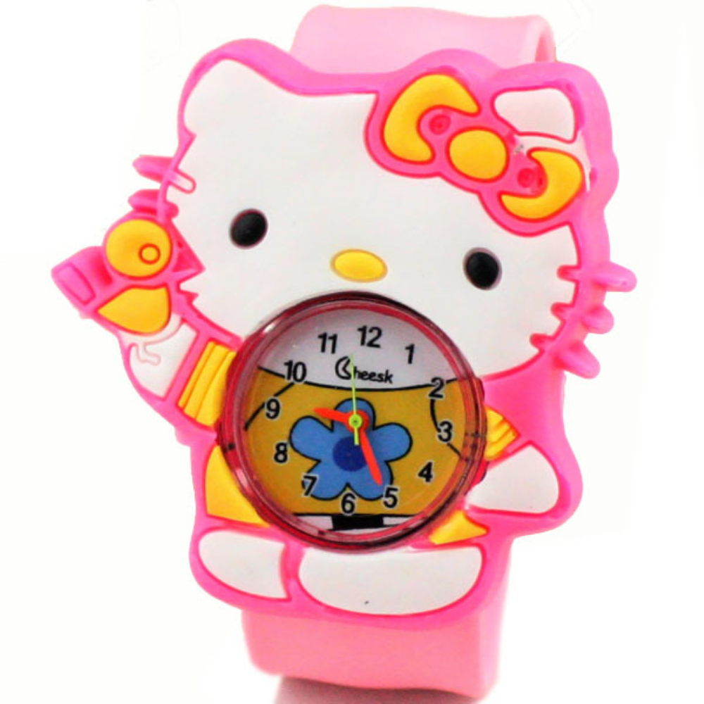 Toy Hello Kitty Watch : Pink hello kitty girls d cartoon watches fashion silicone