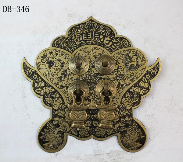 Chinese antique bronze accessories Copper Door Handle Zhaocaijinbao DB-346 14CM