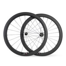 700C 50 мм трубчатой велосипеды колеса 1240 г легкий углерода Wheelset