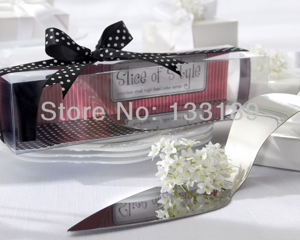 Free shipping 50pc/lot european style creative design High Heel Cake Server party giveaways wedding supplies and gifts(China (Mainland))