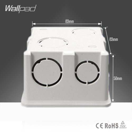 Free Shipping Wallpad  86*86MM Cassette Universal White Wall Mounting Box for Wall Switch and Socket  Back Box(China (Mainland))