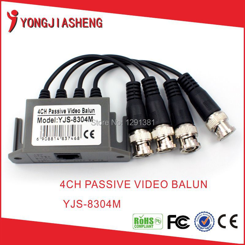 the best price bnc transmitter 4ch Passive Video Balun <br><br>Aliexpress