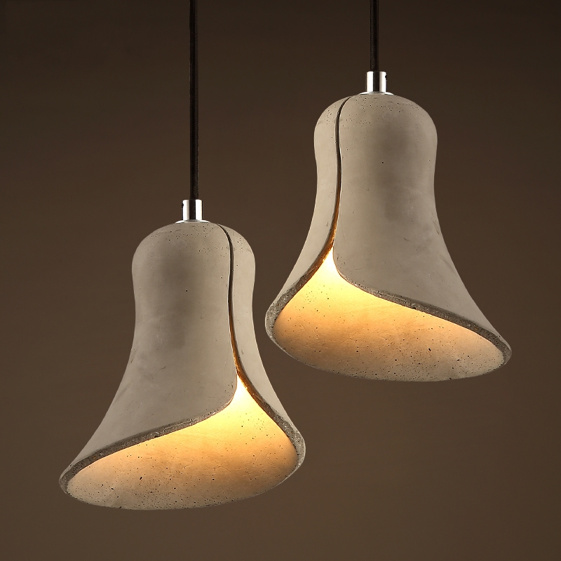 Individuality Pendent Lamp Creative Trumpet Pendent Light Retro Style Aisle Restaurant Cafe Cement Pendent Lamp(China (Mainland))
