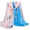 Sali 2016 160 50cm Summer Print Silk Scarf Oversized Chiffon Women Wrap Sarong Sunscreen Pareo Beach