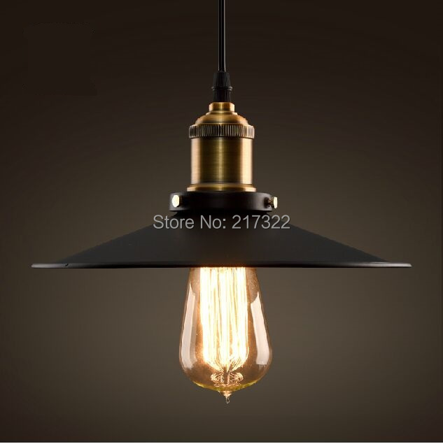 Edison Vintage Pendant Light Old Style Rustic Iron Cage