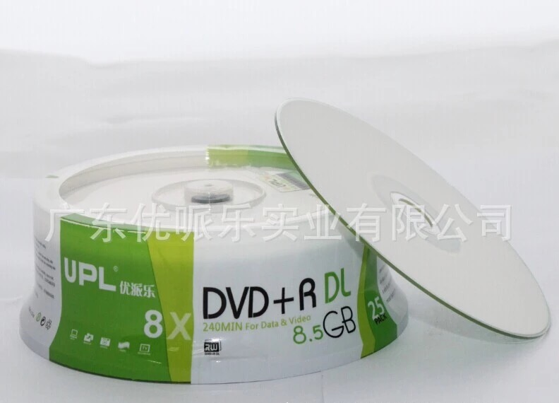 5 discs Less than 0.3% Defect Rate UPL A+ 8.5 GB Blank Printable DVD+R DL Disc(China (Mainland))