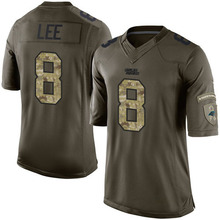 Men's #8 Andy Lee Elite Green Salute to Service Football Jersey %100 Stitched(China (Mainland))