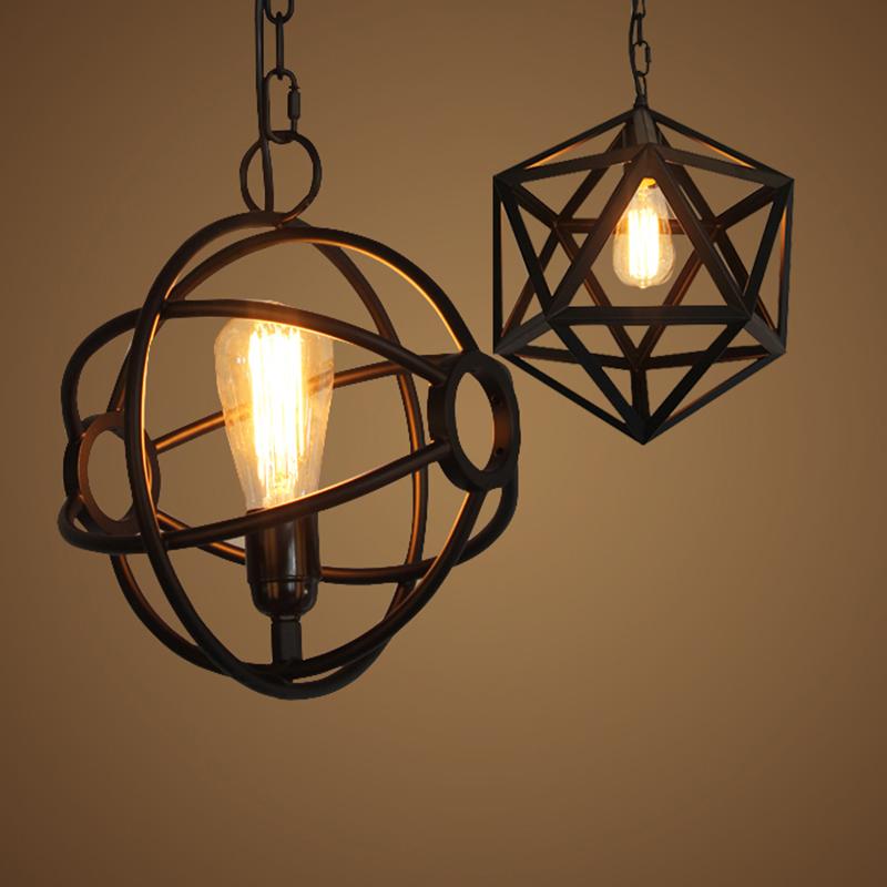 vintage industrial pendant lamp lampshade loft style lights living kitchen dining room lampara retro light modern edison lamps<br><br>Aliexpress