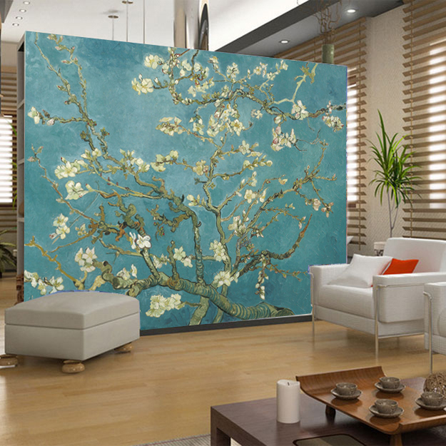 famous oil paintings textile wall murals wallpaper background mural. Black Bedroom Furniture Sets. Home Design Ideas