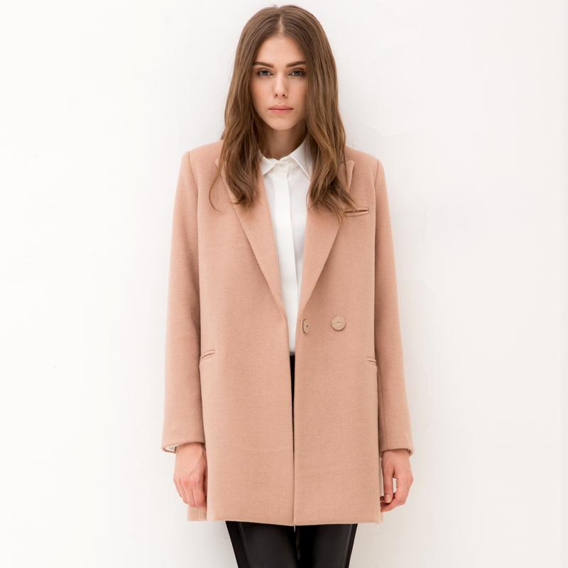 2014 autumn winter woolen outerwear medium-long wool style overcoat female plus size - Online Store 831877 store