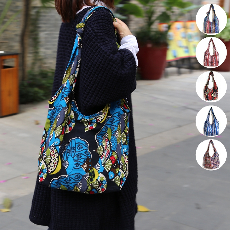 national trend women's one shoulder bags 100% cotton print adjustable hemp bag of cloth cross body handbags MB2710(China (Mainland))