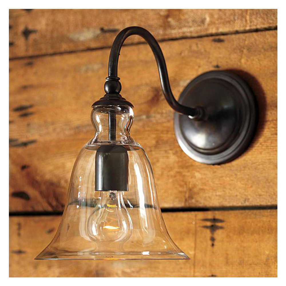 Rh Loft Vintage forme de cloche Loft mur de verre applique verre ...
