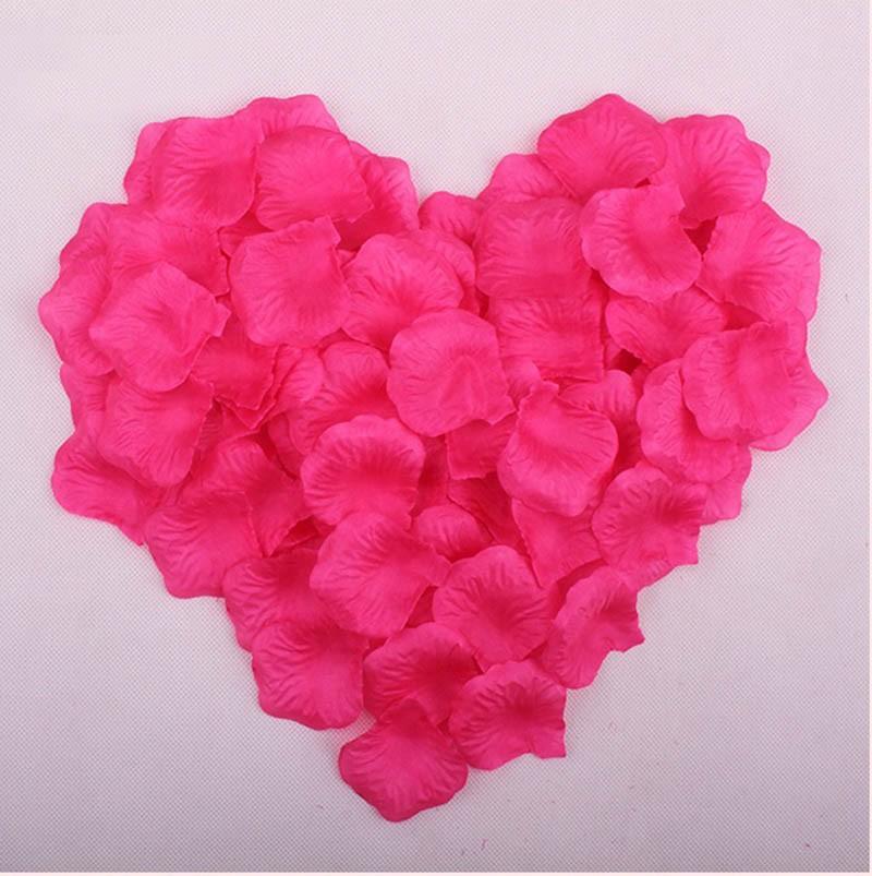 1000Pcs Rose Petal Artificial Flowers Wedding Party Decoration Silk Flowers Romantic Girlfriend's Birthday Marriage Room Decor(China (Mainland))