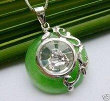 5 PC rotating cute tibet silver lucky jade Buddha pendant 100% free shipping(China (Mainland))