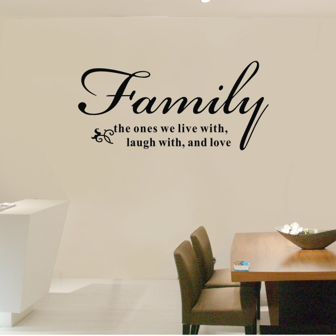 72x34cm Family The Ones We Live Laugh And Love Vinyl Wall