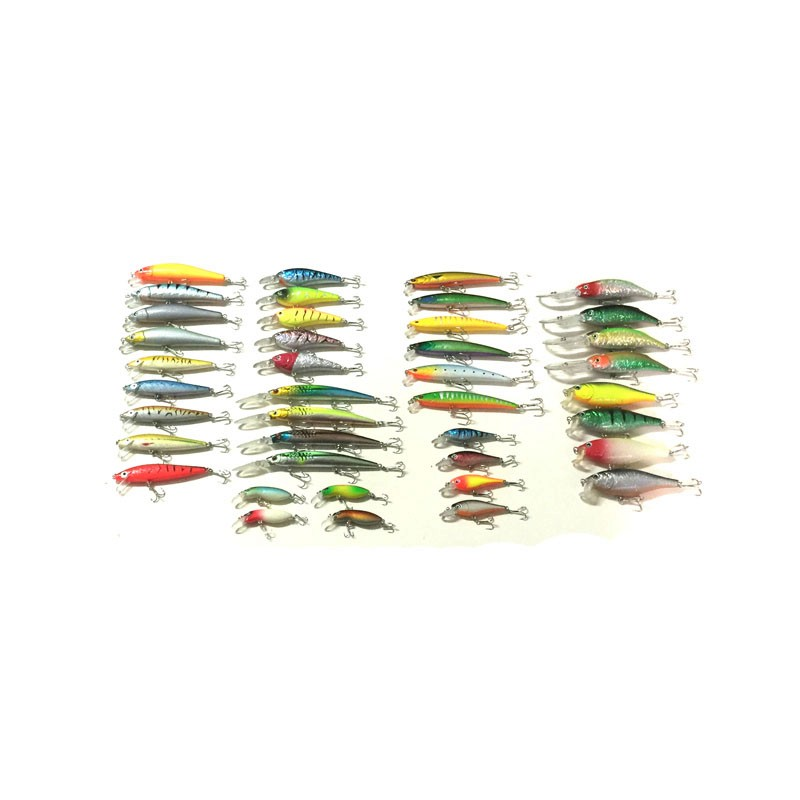 40Pcs/Lot Wholesale Fishing Lure Minnow Set Kit 9 Model Tackle Bait Pesca Isca Artificial Peche China Cheap Fish Supplies(China (Mainland))