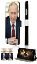 russian president vladimir putin hybrid retail 5designs mobile phone bag card wallet leather cases for IPHONE4 4S free ship