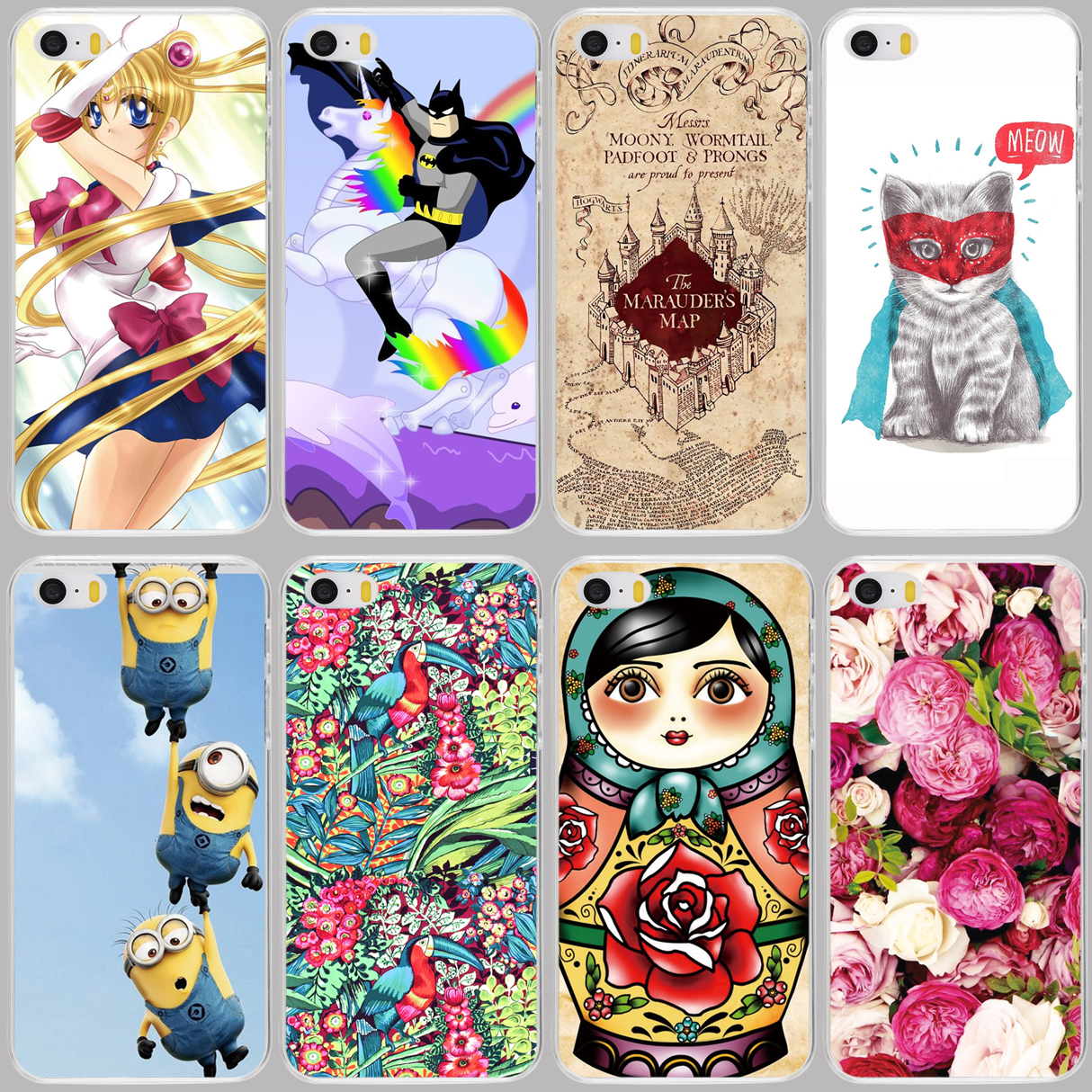 cell phone case cover for Samsung Galaxy J1 J2 J3 J5 J7 MINI ACE 2016 J120F ON5 ON7 N9150 russia doll flower cat super moon girl(China (Mainland))