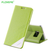 FLOVEME S6 /S6 Edge Elegant Original Leather Case For Samsung Galaxy S6/S6 Edge Flip Wallet With Card Slot Stand Cellphone Cover