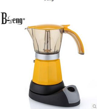 Coffee Maker Person Called : coffee moka pot Colorful metal coffee maker espresso six person servings Electric Moka Espresso ...