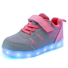 New Children s USB Charging Colorful Luminous Shoes 2016 Brand Kids Fashion Sneakers with Led Light
