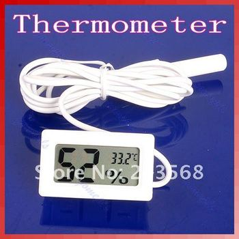 D19+Mini Digital LCD Thermometer Humidity Temperature Hygrometer White