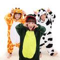 Baby Boys Girls Pajamas warm Autumn Winter Children Flannel Animal cute animal Stitch panda cartoon Pajamas