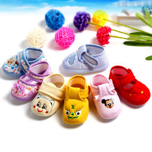 2015 Vintage Funny Baby Shoes Soft Sole Cotton Baby Shoes Prewalker For New Born Baby Toddler Bebes Shoes Boys Girls Crib Shoes(China (Mainland))