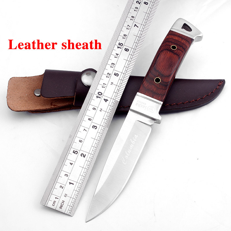 Buy SR K90 Fixed Blade Hunting knife wood handle camping survival tactical rescue knife Outdoor Portable EDC tools free shipping cheap