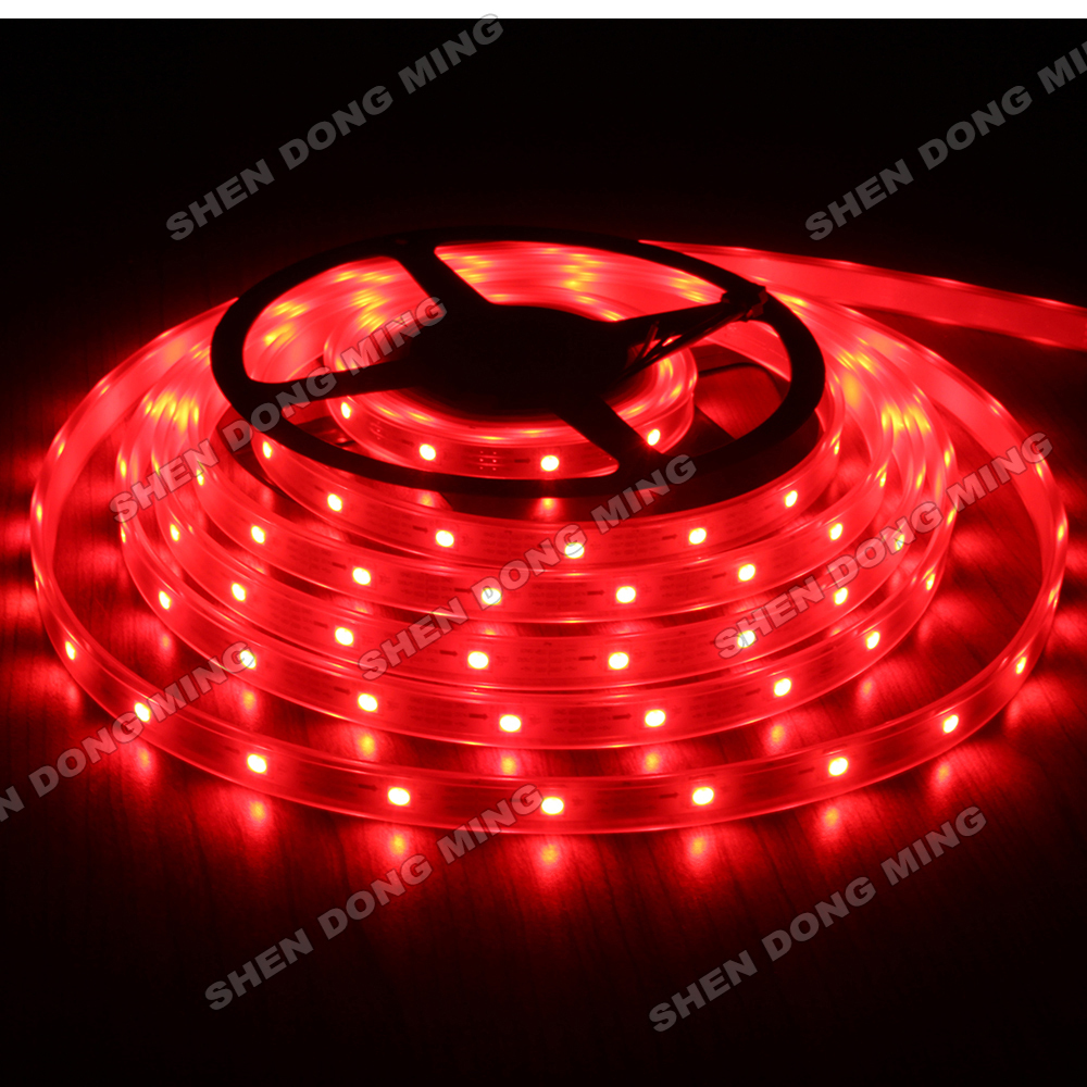 5M Led Strip Waterproof 5050 SMD IP67 DC 12V 36Leds/M 12IC/M Dream Color LED Pixel Strip WS2801, Led Strip RGB(China (Mainland))
