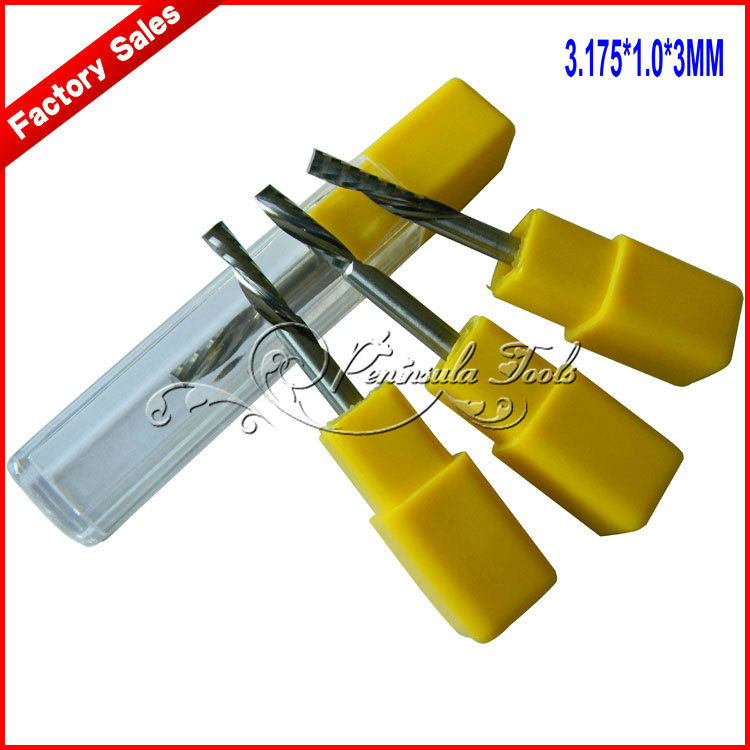 3.175*1.0*3mm Left rotation single blade spiral cutter / computer carving knife acrylic - Peninsula Tools store
