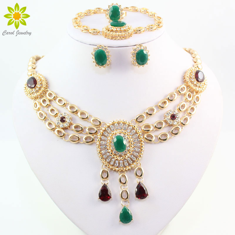 New Fashion Gold Plated Bridal Wedding Costume Jewelry Set ...