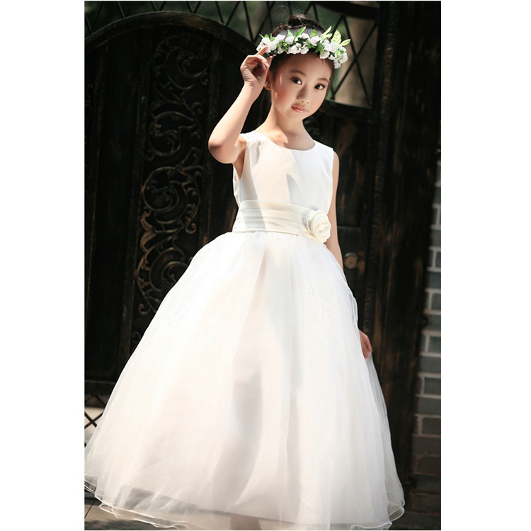 Super Quality Girls Floral Wedding Party Dress Princess Ball Gown Child 2-10T Brand New White Red Pink Blue Purple Vestidos - MOON C KIDS store