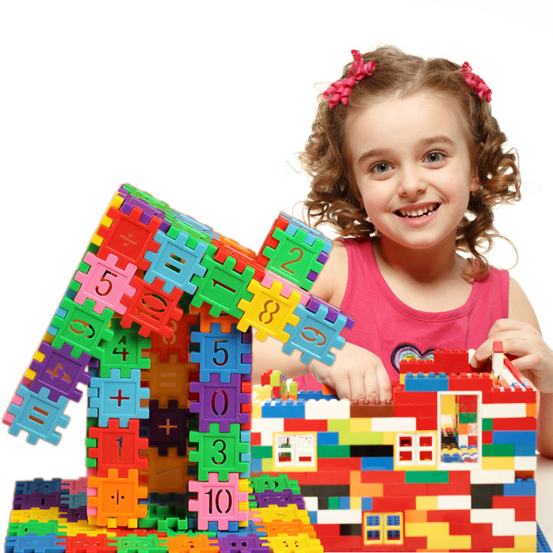 80Pcs Plastic Children Kid Toy ,Digital Puzzle Toy ,Educational Building Toy(China (Mainland))