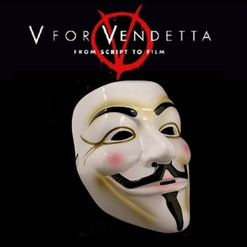 Free shipping for CPAM V vendetta team guy fawkes masquerade Halloween carnival Mask 40g,light yellow, White 1lot