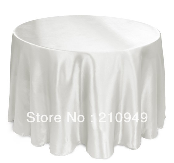 free shipping 108in. tablecloth cheap white tablecloths custom round tablecloths(China (Mainland))
