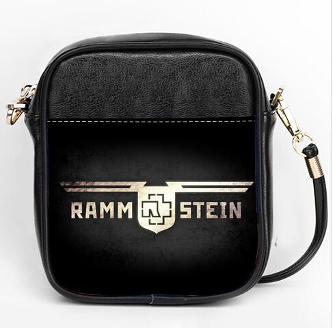 Casual bag messenger German band Rammstein logo leather shoulder bags(China (Mainland))