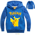 children t shirts hooded boys hoodies pokemon go team baby girls sweatshirt pikachu hoodie for kids