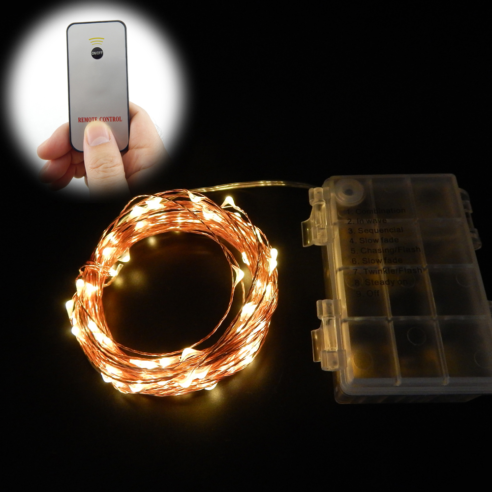 String Lights With Remote Control : Popular Led String Lights Remote Control Battery Operated-Buy Cheap Led String Lights Remote ...