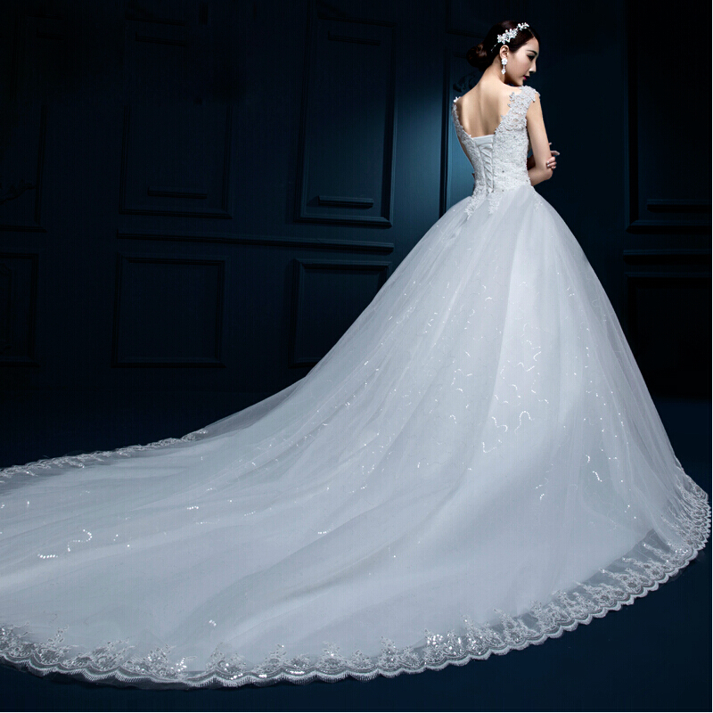 2016 new shoulder off white with red lace wedding dress for Off white plus size wedding dresses
