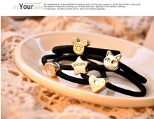 2016 New arrival  hair accessories Rubber Hair Band Black Candy Colored Hair Holders Elasticity Tie Hair for Girl Women(China (Mainland))