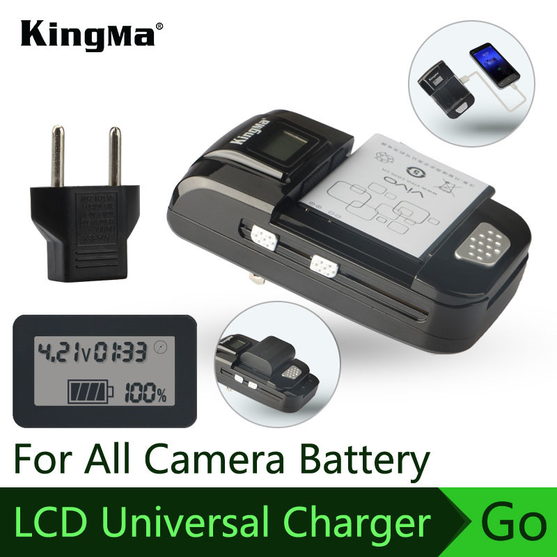 KingMa Universal Charger GoPro/Xiaomi Yi/Mobile/Video Camera/Camera Battery