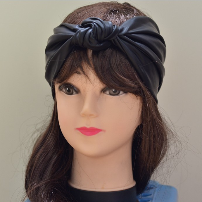 Woman 2013 Bands: 2013 Unique Design Women Synthetic Leather Knot Headbands