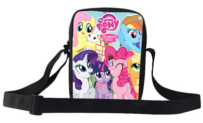 2015 New Fashion Children Shoulder School Bags For Girl My Little Pony Shoulder Bag Children Messenger Bag For Girls Kids(China (Mainland))