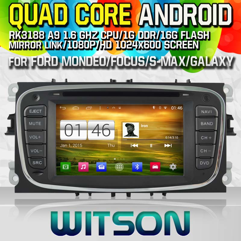 WITSON Android 4.4 CAR DVD player for FORD MONDEO Capctive Screen GPS Navi Car Stereo Radio DVD Player mp3 Bluetooth mirror link(China (Mainland))