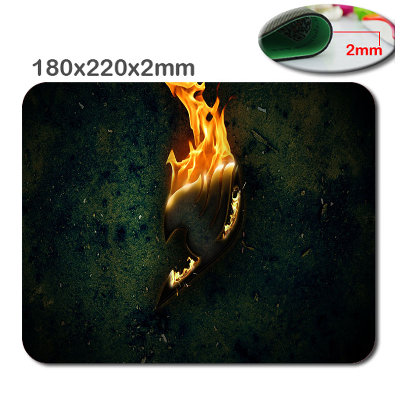 Professional custom fairy tail logo mouse pad high definition printing game mouse pad cheap padmouse mouse pad pad computer desk(China (Mainland))