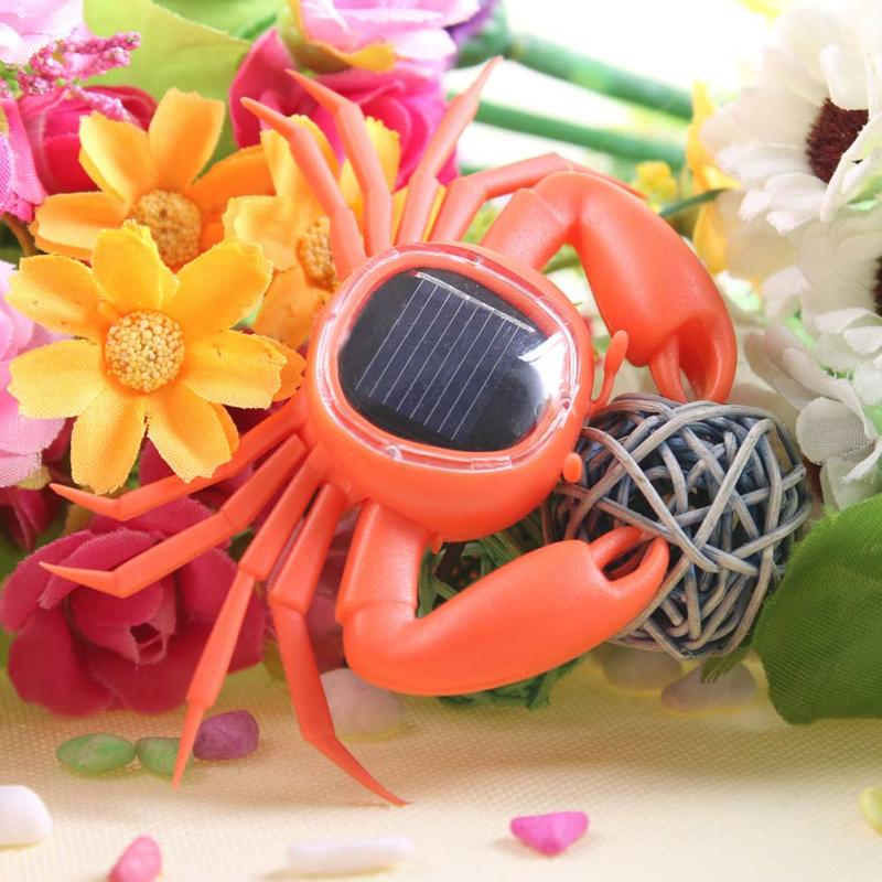 Solar Energy Flip Flap Solar Crab Dancing Toy Cute Small Crab Car Decoration Solar Toys(China (Mainland))