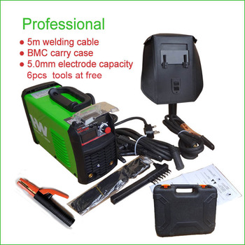 MMA 200 welding machine,165V~265V wide voltage input, 2pcs electroder holder+3m cable,1pc ground clamp+2m cable,carry case free