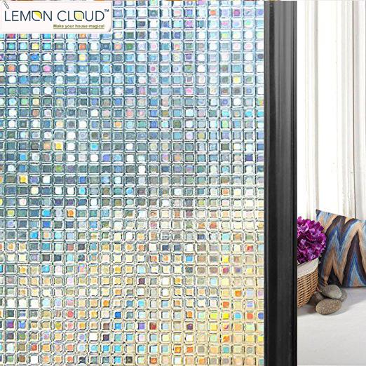 Lemon Cloud Lemon Cloud 3d No Glue Static Decorative Privacy Mini Mosaic Window Films for Glass 45*200cm (17.7Inch by 78.7In)(China (Mainland))
